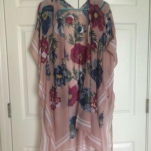 NWOT Modcloth Woven Heart floral shrug